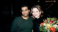 Renée with me after the program, outside Carnegie Hall