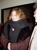 Renée outside the Metropolitan Opera after the performance
